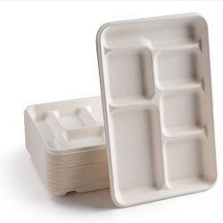 الغذاء السريع في وعاء وجبة الغداء في المستشفى من الألياف الضوئية القابلة للتحلل البيولوجي صديقة للبيئة الدرج