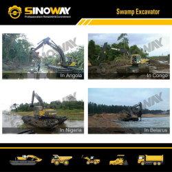 Transporteur de fret amphibie excavatrices Swamp Buggy Service personnalisé pour les machines