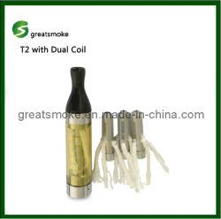 T2 испаритель с двумя катушками электронных сигарет