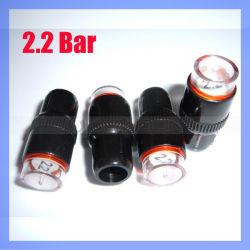 自動車2.2棒タイヤ空気圧のゲージのパルブキャップ、弁帽またはタイヤ空気圧の表示器の帽子(TIRE-02)