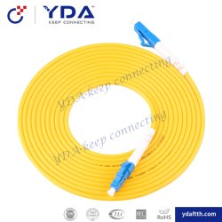 FTTH einzelner Modus 9/125 LC/Upc LC/Upc Faser-Optiksteckschnür PVC-LSZH
