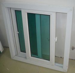 Panama Hurricane Impact 88 Serie Water-Tight/Sound-Proof/Heat-Insulat PVC-Schiebefenster mit Buntem Glas