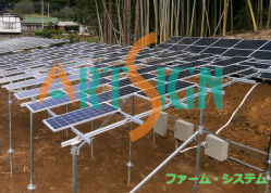 Mejor Venta de aluminio anodizado para fijación de la granja System-Solar Solar