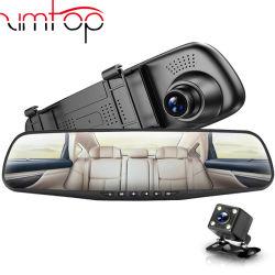 Full HD 1080p Voiture DVR Caméra Rétroviseur auto 4,3 pouces enregistreur vidéo numérique caméscope Registratory double lentille