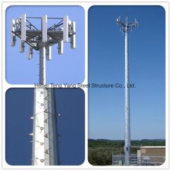 Tuyau en acier tube unique monopole des télécommunications de la tour de téléphone cellulaire avec le meilleur prix
