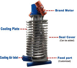 Di Schang-Hai vendita direttamente che raffredda elevatore di sollevamento verticale che vibra trasportatore a spirale