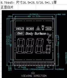 Thermometer LCD-Bildschirmanzeige-Baugruppe für Wasser-Messinstrument