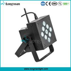 Operado a Bateria 9 PCS sem fio 10W RGBW 4NO1 Lâmpada PAR LED