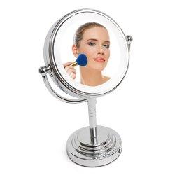 Draadloze Draagbare Fogless Wartel van de LEIDENE de Lichte Spiegel van de Make-up 360 de ' Spiegel van de Tribune met Vergroting en Spreker Bluetooth