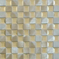 Für Wanddekoration Glas Silber Metall Aluminium Mosaic Tile
