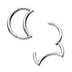 ASTM F136 gerundeter Titanmond eingehängtes Segment schellt Scheidewand Clicker Wekzeugspritzen-Piercing Schneckentritonshorntragus-Piercing Ohrring 16g