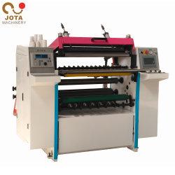 Papel autocopiativo de rebobinado de corte longitudinal la máquina cortadora longitudinal de rollo de papel de NCR