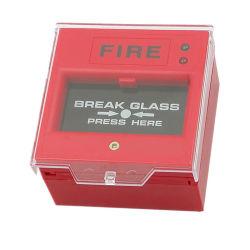 Knoop van het Brandalarm van het Glas van de Onderbreking van de Drukknop van de noodsituatie de Hand