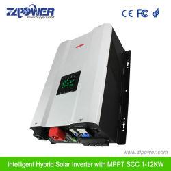 1000W - 12000W 12V/24V/48V de corriente alterna monofásica fuera de la red inversor Power Panel Solar Híbrido