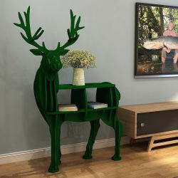 Animais de madeira estilo livre de pé Rack do visor Home Office Itens de bebé