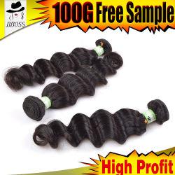 La trama de tejido de pelo/Cabello Humano /Pelo Virgen India