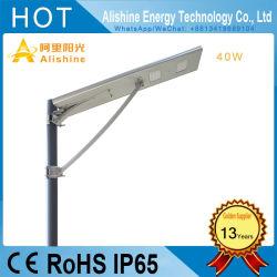 40W fabricant de feux de route de plein air Lampe LED solaire rue