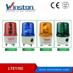 機械のための軽い回転式警報灯を回転させるLTE-1102j DC 12V 24Vのデシベルアラーム赤いLED球根