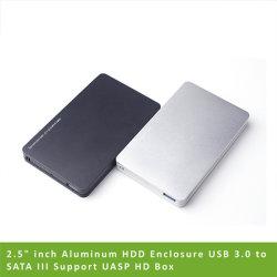 """2.5 """" de Bijlage USB 3.0 van het Aluminium HDD van de Duim aan SATA III Geval SSD van de Aandrijving van de Harde schijf van de Doos HDD van Uasp HD van de Steun het Externe Externe"""