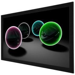 HD 16: 9 Cinema неподвижной рамкой экрана проектора с помощью гибких белого или серого цвета в формате HD