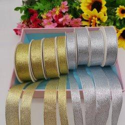 """1/8 """" ~4 """" di ori/nastro/tessitura/merletto/nastro metallici dell'argento per gli indumenti/decorazione/pacchetto"""