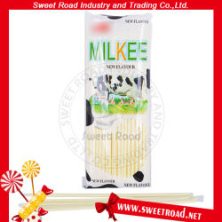 Süsse trockene Milchgeschmack-Puder-Stroh-lange Stock-Süßigkeit