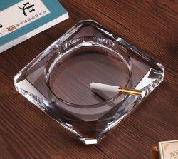 Regalo promocional mayorista de cigarrillos Cenicero de cristal puro cristal Craft