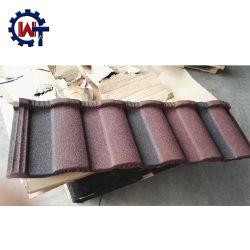 La nature de couleur Frequently-Used ondulé en métal recouvert de tuiles de pierre