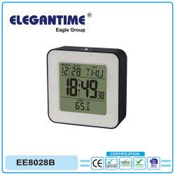 温度の背部Llightの温度計が付いているLCDの目覚し時計