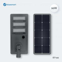 40W 60W 80W 실외 통합형 태양열 LED 스트리트 가든 라이트 주차 도로