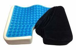 涼しいゲルのメモリ泡の大きい整形外科のTailboneの枕