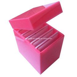 Em acrílico personalizada Eyelash Chicote de Extensão de caixa, Folga de plástico do visor do Organizador