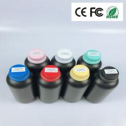 La impresora plana UV barata de inyección de tinta de impresora de tinta UV de tinta de color blanco