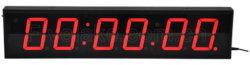 4 pouces de mur de LED à 6 chiffres Chronomètre numérique Réveil