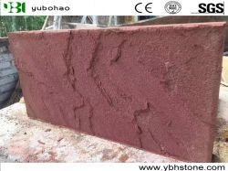 Zandsteen van /Yellow van het Bouwmateriaal het Rode/Groene/Gesneden aan Grootte voor de Tegels van de Muur van de Tegels van de Vloer van Projecten