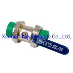 고온 및 저온 고압력 PPR 이중 유니언 밸브 물 공급
