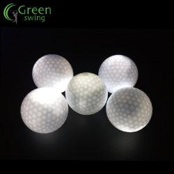 LED de promoción de la noche brillan las bolas de golf para el comercio al por mayor