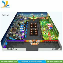 2020 Kind-Innenspielplatz, weiches Spiel-Bereichs-Gerät für Verkauf, haltbare Innendschungel-Gymnastik