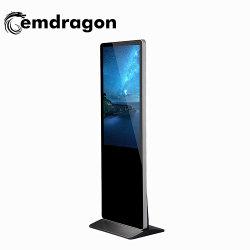 Plancher Signege numérique permanent Super Kiosque ultraminces de signalisation numérique LCD 43 pouces LCD Sony Escalator Affichage rambarde