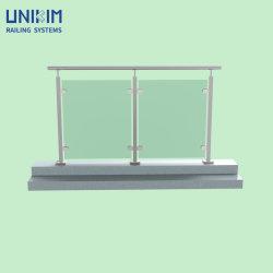 Fabbrica Commercio all'ingrosso interni interni interni esterni Exteiror baluster in vetro acciaio inox Corrimano per parapetti con corrimano CE