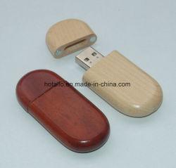 На заводе оптовой рекламных подарков деревянной ручкой USB Flash накопитель с фиксированной цепочки ключей