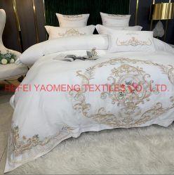 la tela di base 80d/coperchio stabilito domestico del Duvet della cassa del cuscino delle regolazioni della base delle lenzuola di Ctextiles cuscino dell'assestamento/della tessile imposta le lenzuola del cotone egiziano del re Size 100% del ricamo