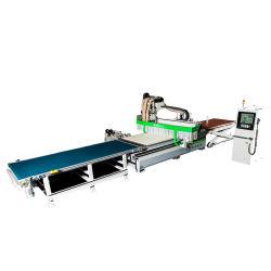 2 تداخل العمل على الخشب في عمود الدوران مع موجّه CNC مع تغيير تلقائي للأدوات
