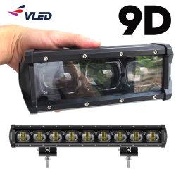 Marcação EMC 9D única linha Spotlight lentes do projetor Carro Luzes da barra de luzes LED automática da barra de luz para Offroad Veículo