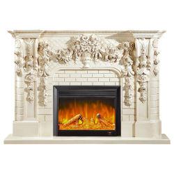 Foyer électrique insérer une cheminée en marbre Frames cheminée en marbre Mantel