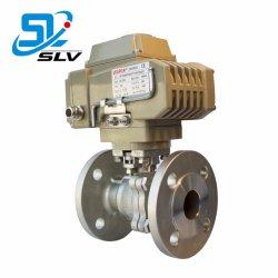 Abrazadera de acero inoxidable de la industria de la brida de rosca de válvula de bola de control eléctrico