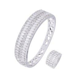 La Plaza Cristal Piedras Preciosas de silicona Brazalete Pulsera de moda accesorios de joyería