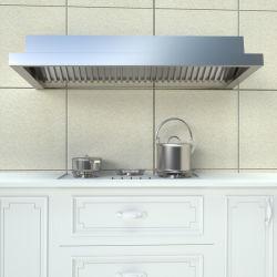 مطبخ مخصص Chimney الحاجز مرشح غطاء النطاق الجانبي المثبت على الحائط