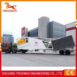 중국, 콘크리트 기계 Truemax Cbp100m 이동식 혼합 시멘트 콘크리트 가격 판매용 일괄 처리 공장