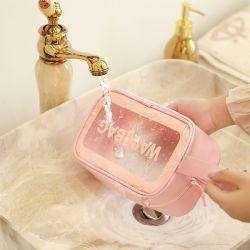 Saco de cosméticos em PVC transparente personalizada mulheres Makeup Bag